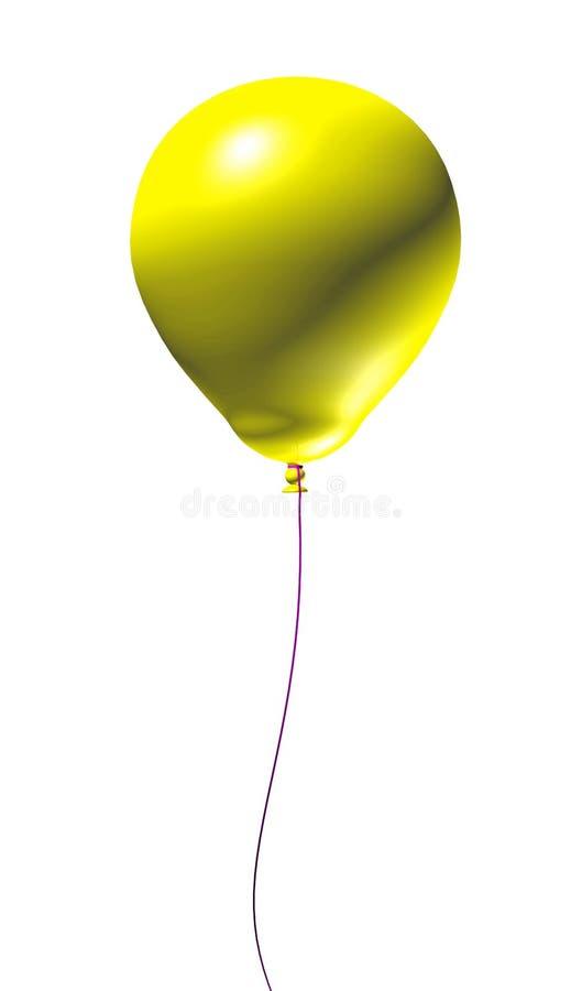 3 d balonu żółty ilustracji