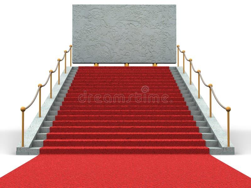 3 d bigboard schody. ilustracja wektor