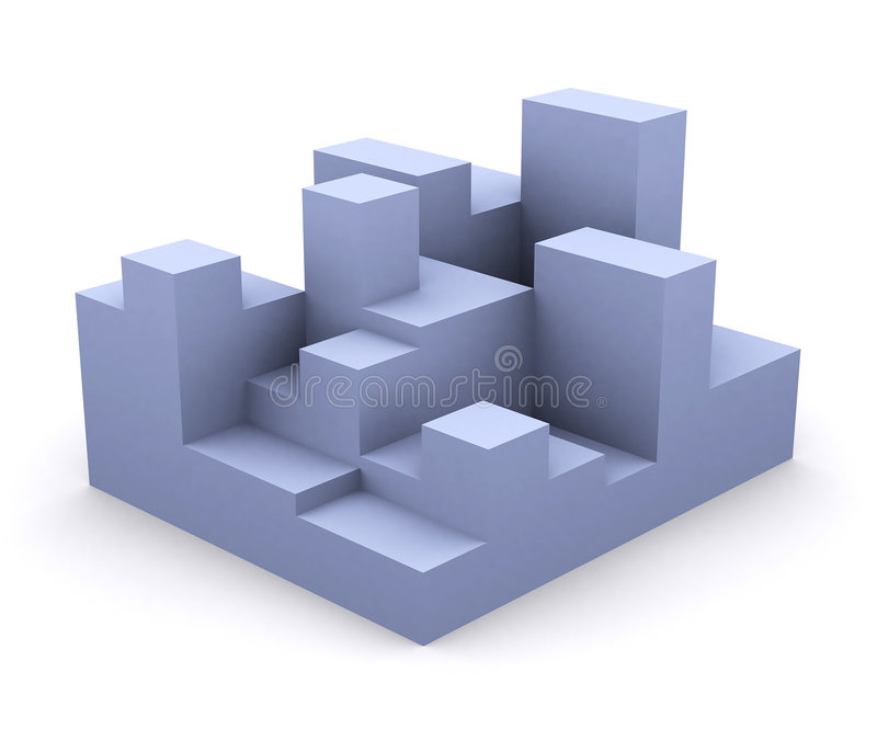 3 d bloków ilustracji