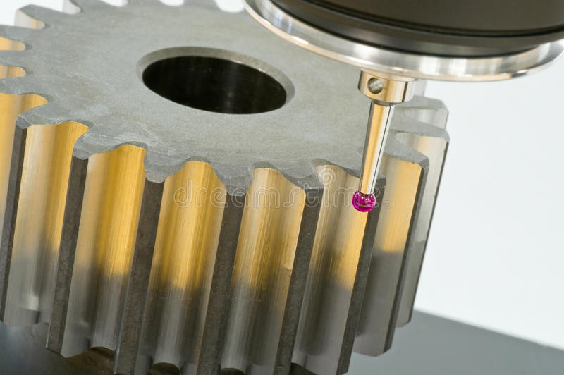 3-D-coordinate-measuring lizenzfreie stockfotografie