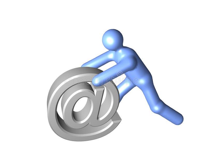 3 d e - mail royalty ilustracja