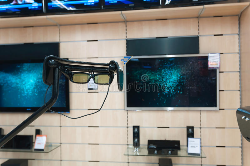 3-D Glasses For Try Royalty Free Stock Image