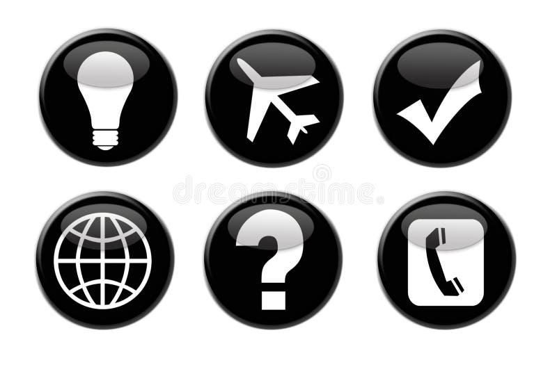 3 d ikon biznesowej podróży ilustracji
