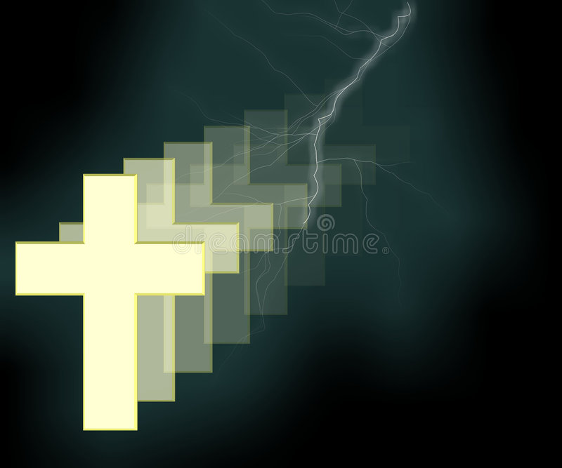 3 d krzyża religii ilustracji