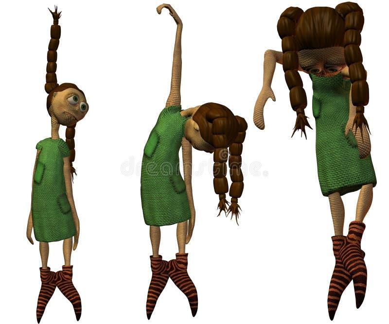 3 d lalki. royalty ilustracja