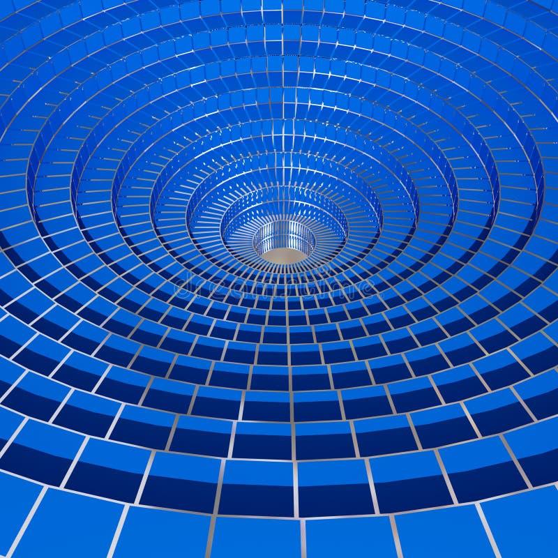 3 d okręgu tła obraz depeszujący niebieski ilustracji