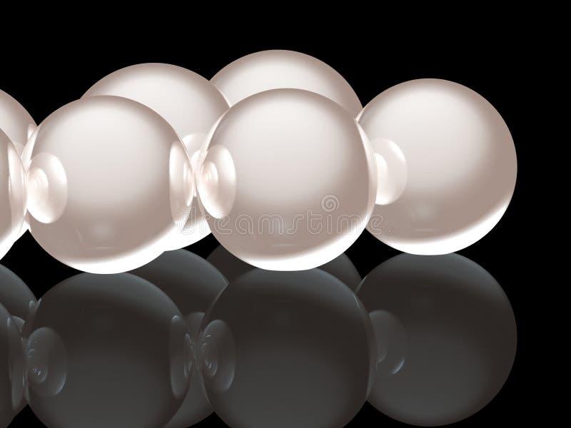 3 d perły? ilustracja wektor