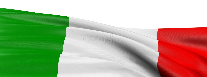 3 d pod banderą we włoszech royalty ilustracja