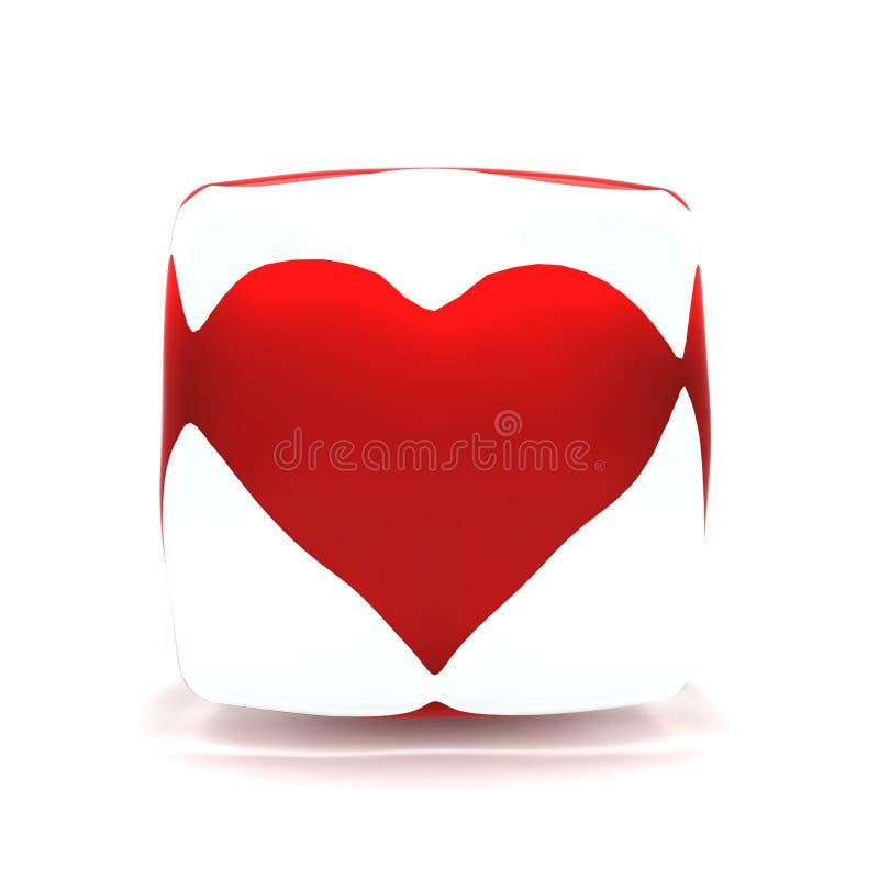 3 d pudełka mody serca lodu obrazy royalty free