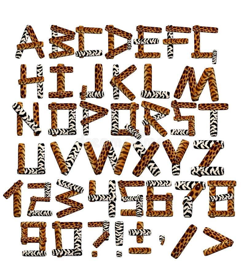 3 d safari alfabet styl ilustracja wektor