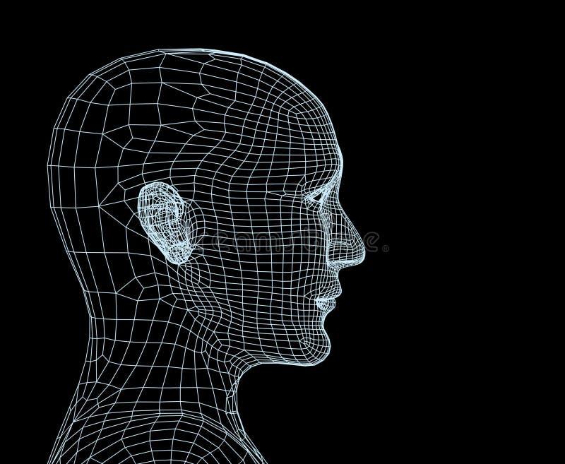 3 d sieci głowy osoby