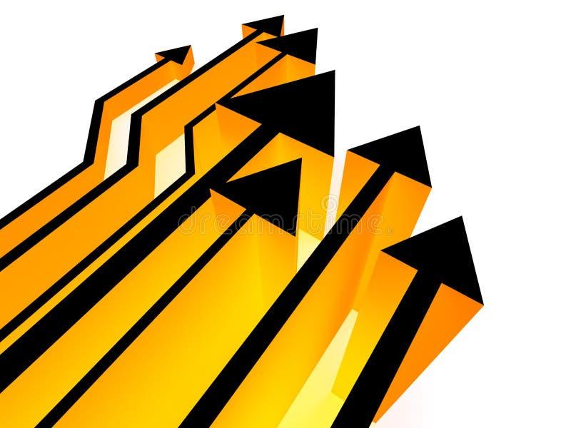 3 d strzała konkurencji żółty royalty ilustracja