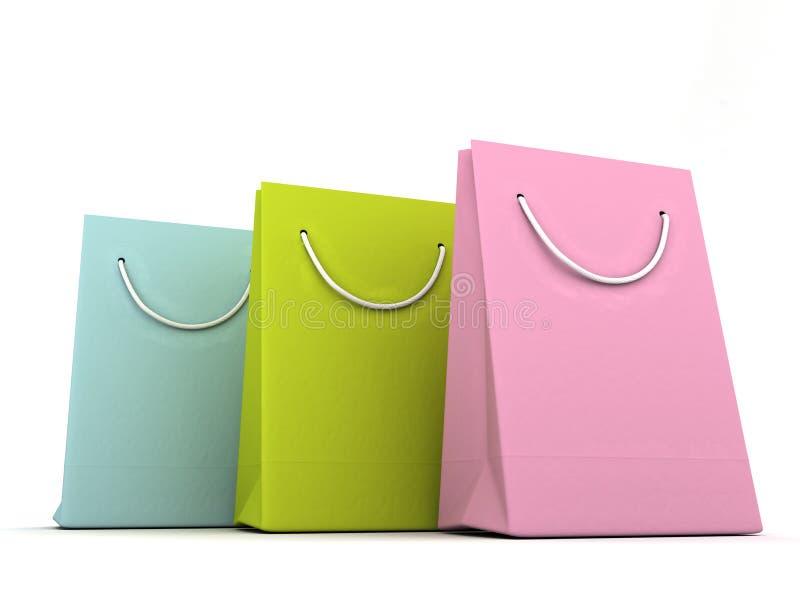 3 d torb luksus, zakupy. obraz stock