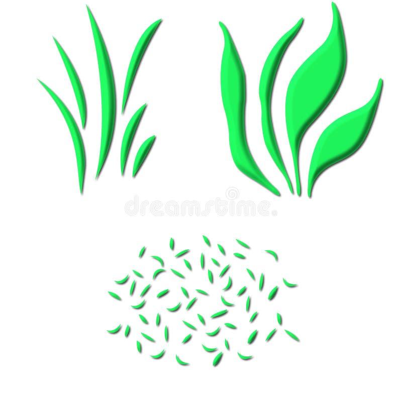 3 d trawy. ilustracji