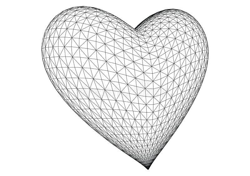 3 d wytopione wektorowym serce ilustracja wektor