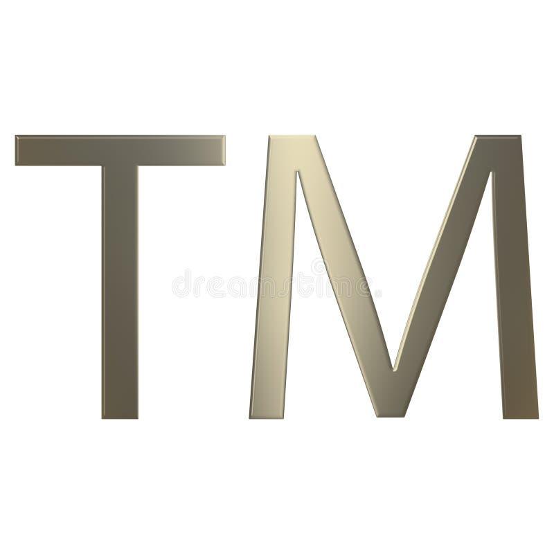 3 d złota znak towarowy royalty ilustracja