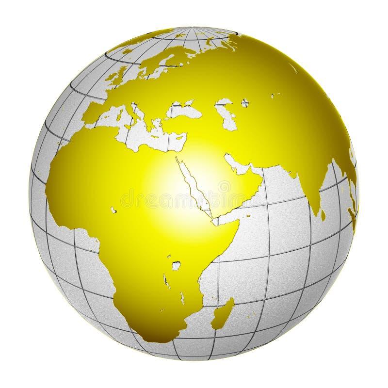 3 d ziemi globe występować samodzielnie planety zdjęcia stock