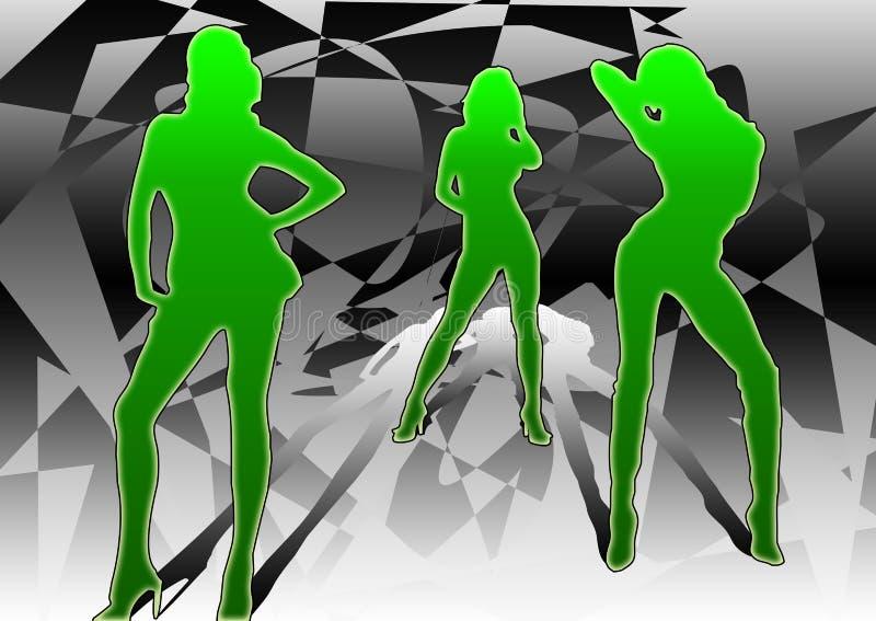 3 dansers vector illustratie