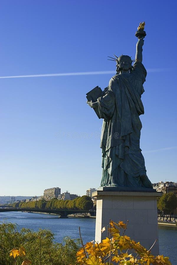 3 de la libert巴黎雕象 免版税库存图片