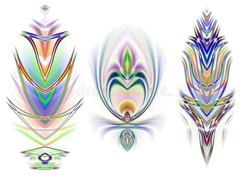 3 Decorative Design Elements stock illustration