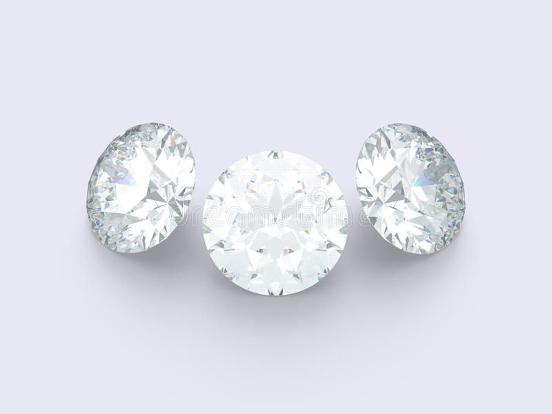 3 diamants photos libres de droits