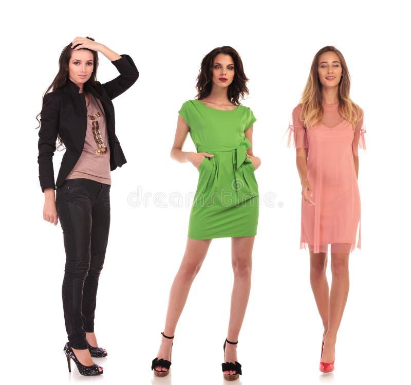Free 3 Different Women Posing On White Background Royalty Free Stock Photos - 101444868