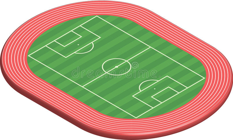 Download 3 Dimensional Football Field Pitch Stock Vector - Illustration of graphics, electronic: 16168268