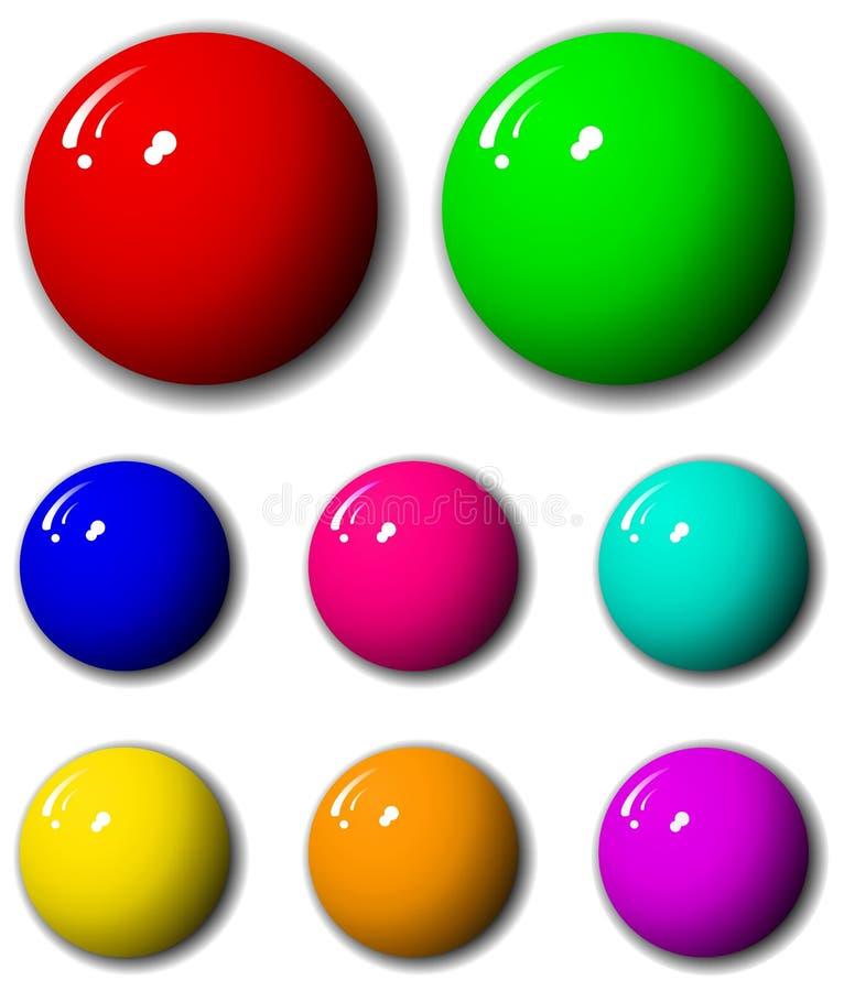 3-Dimensional High Quality Sphere Set stock photos