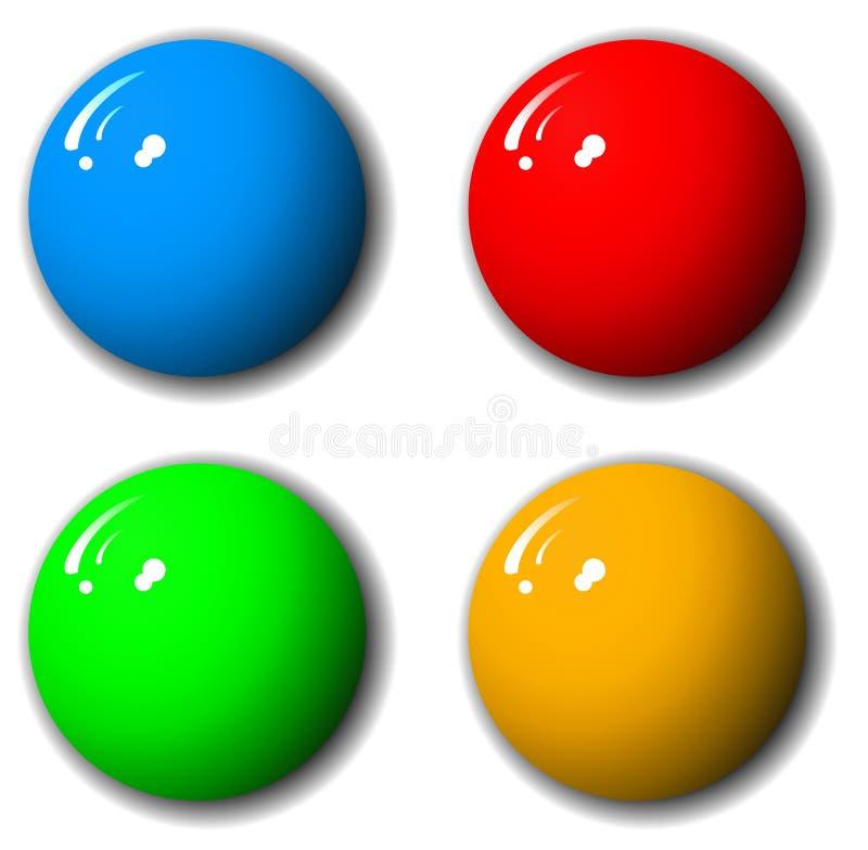 3-Dimensional Qualitäts-Kugel-Set vektor abbildung