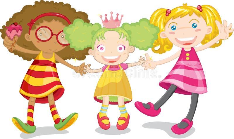 3 dzieciaka ilustracji
