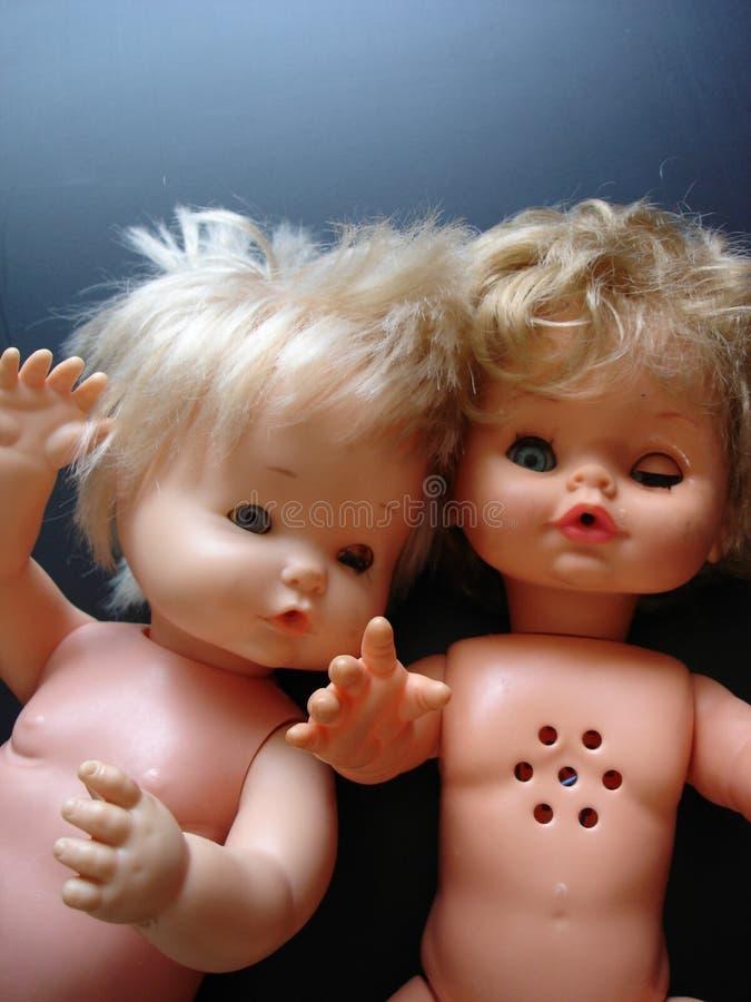 3 dziwne lalki fotografia stock
