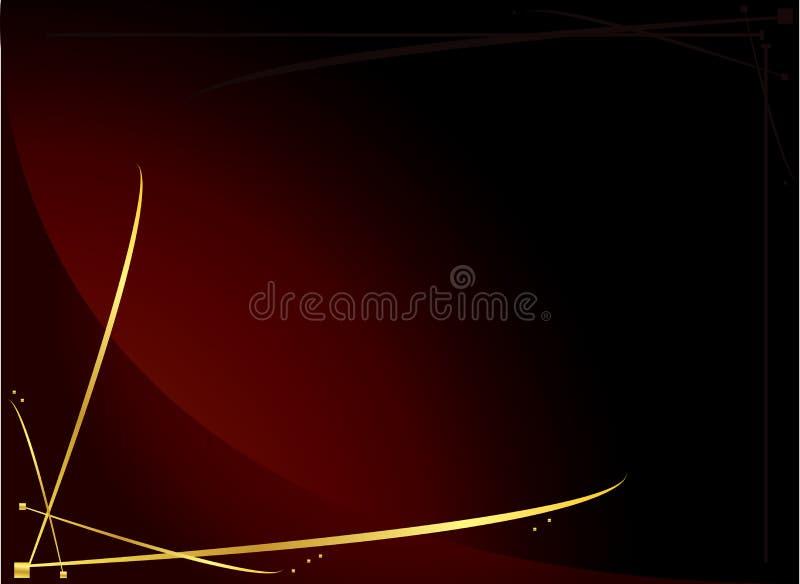 3 elegancka tła czerwonego złota royalty ilustracja