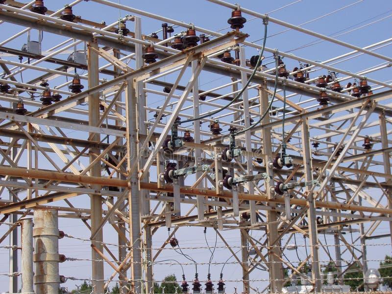 3 elektrycznych podstacji zdjęcie royalty free