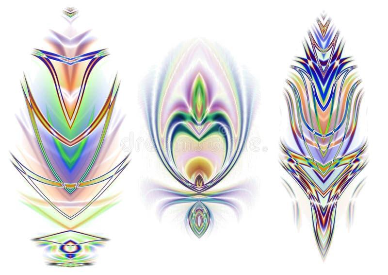 3 elementi decorativi di disegno illustrazione di stock