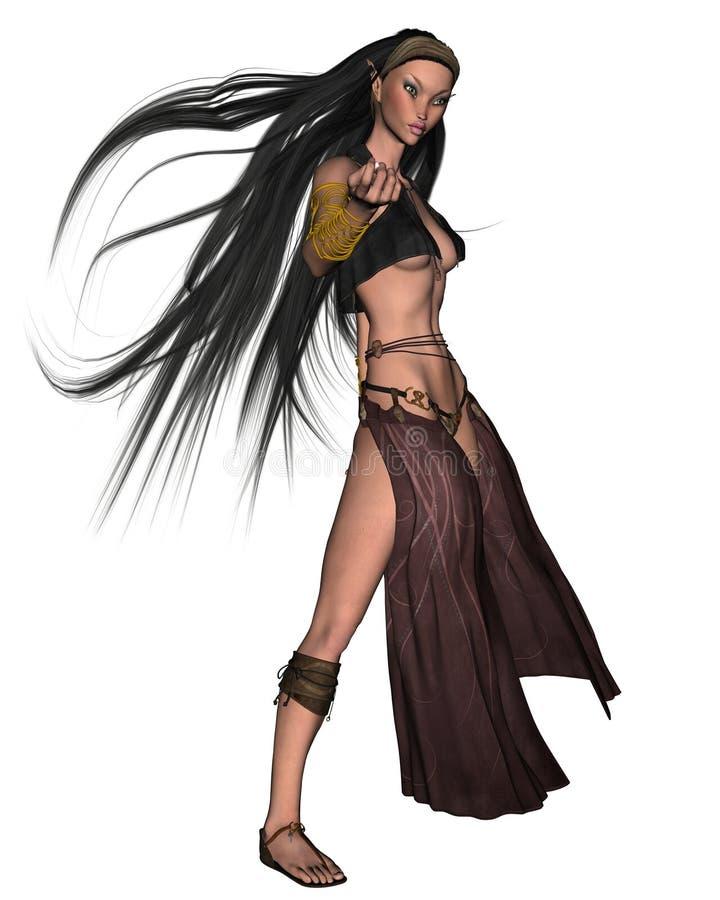 3 elven女巫 库存例证