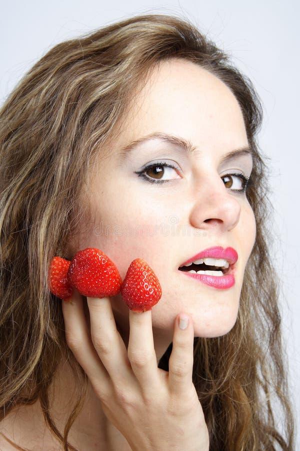 3 erotical καμία φράουλα στοκ εικόνα