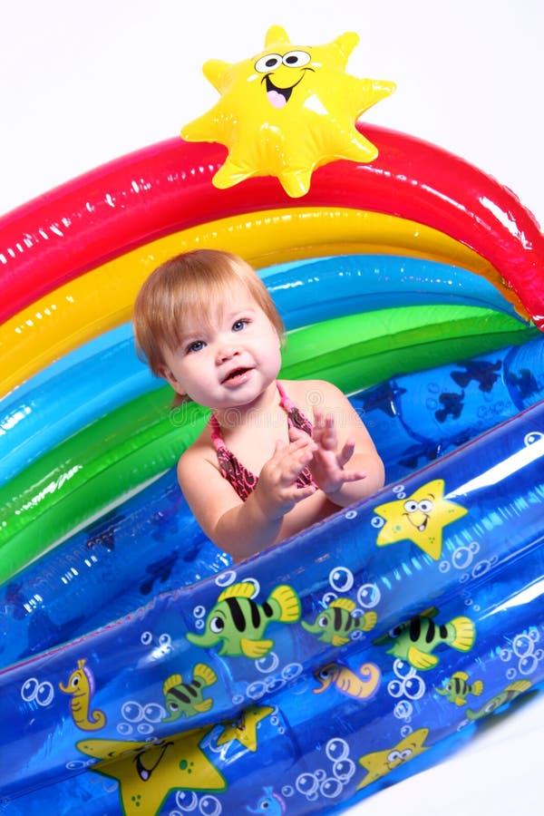 3 fajnych dziewczyn mały basen fotografia royalty free