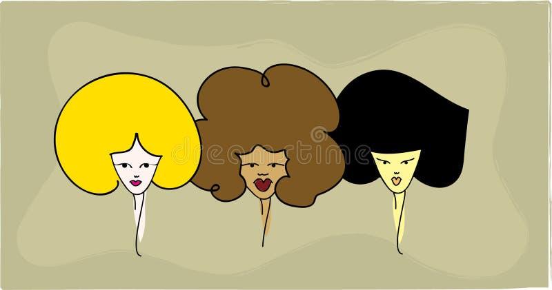 3 femmes photographie stock