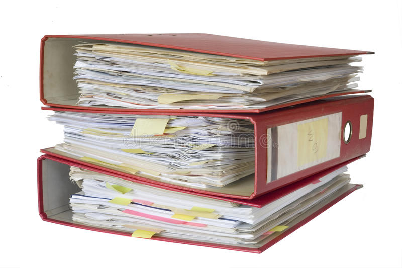 Download 3 file folders stock photo. Image of organization, arch - 21771108