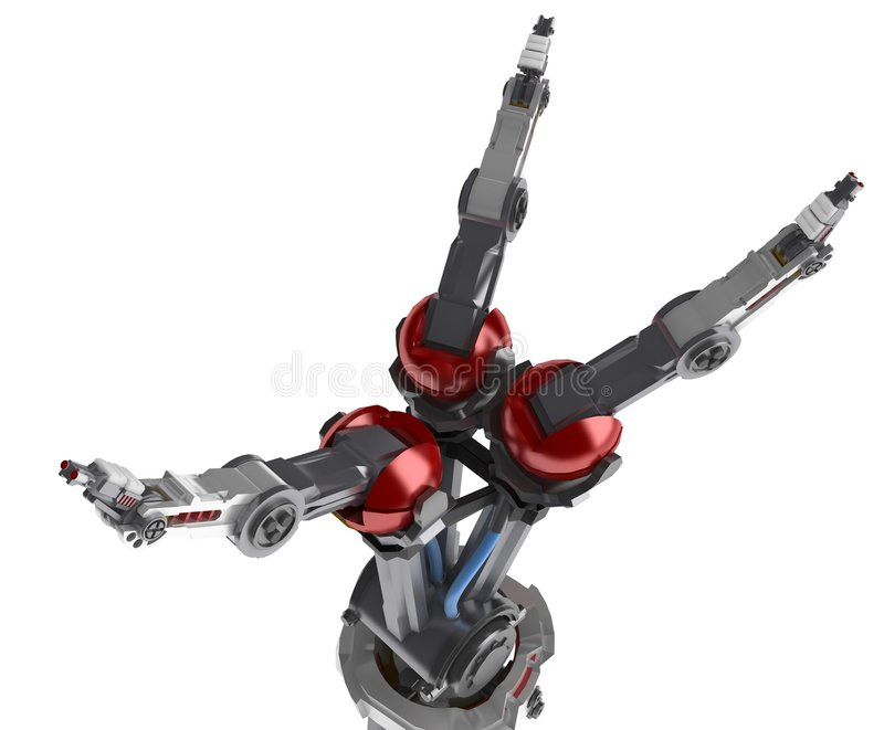 Download 3 Finger Robot Hand, Spread Royalty Free Stock Image - Image: 5576346