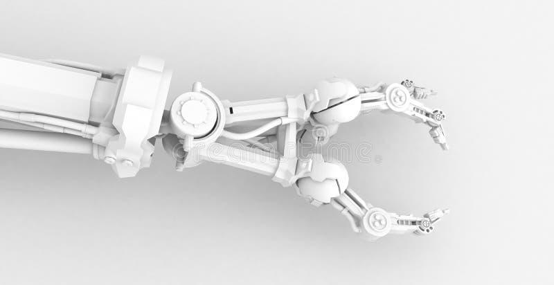 3 Finger Robot Hand, White Royalty Free Stock Photo