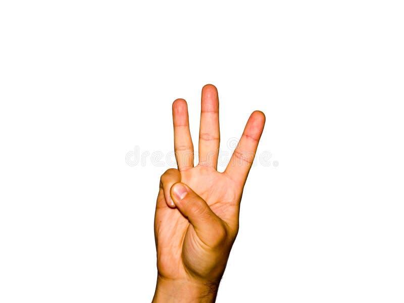3 fingrar arkivfoton