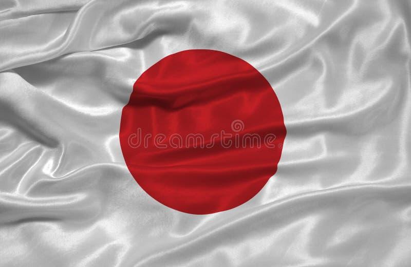 3 flagga japan vektor illustrationer