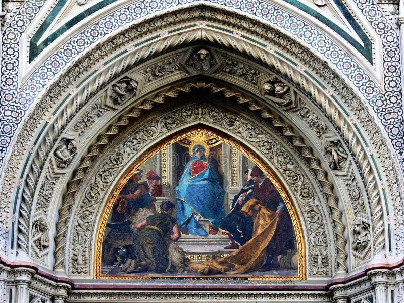 3 Florence katedralny szczegół zdjęcia stock
