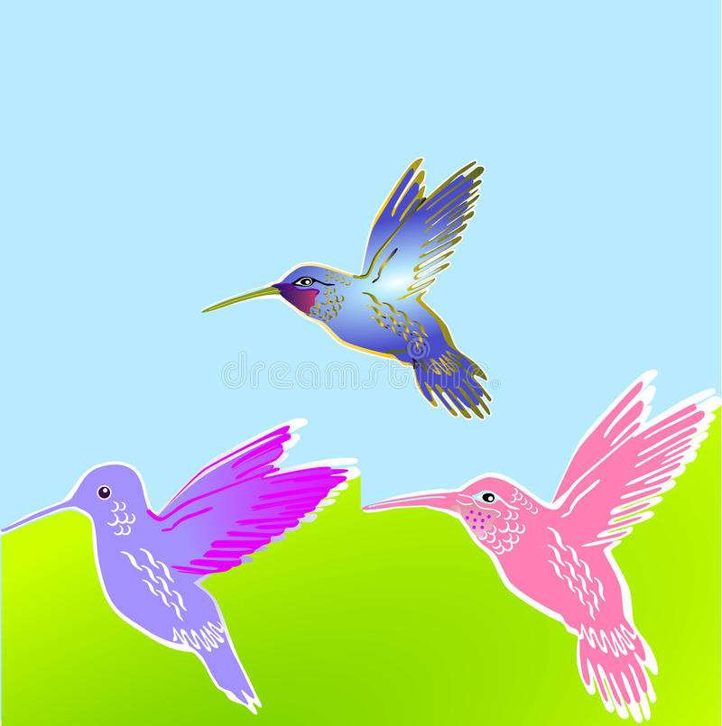 Free 3 Flower Birds Royalty Free Stock Photography - 14404977