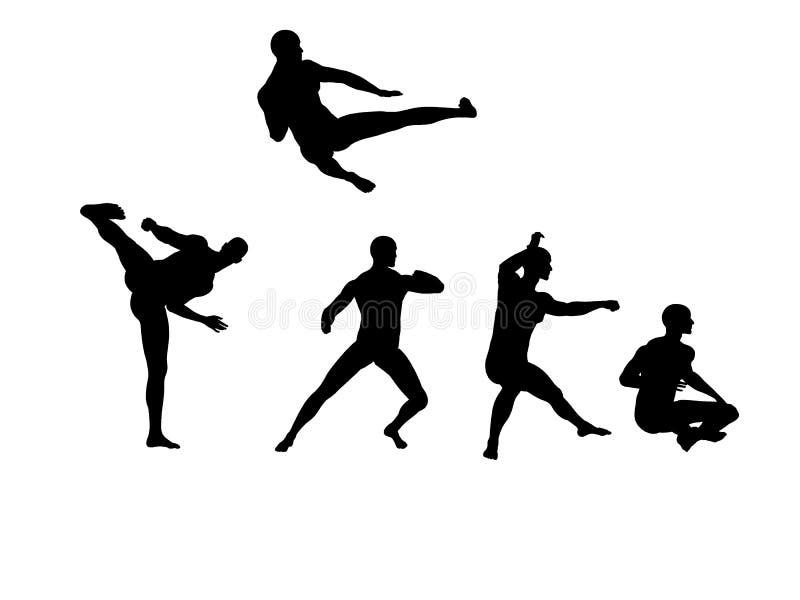 3 fu kung praktyka royalty ilustracja