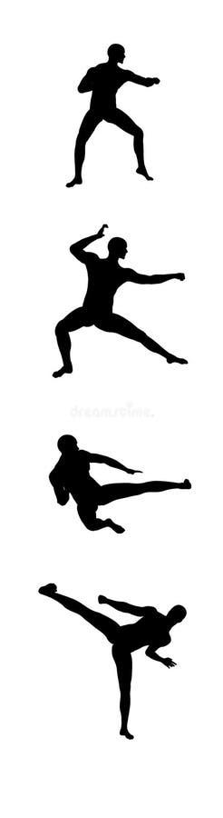 3 fu kung ruchu royalty ilustracja