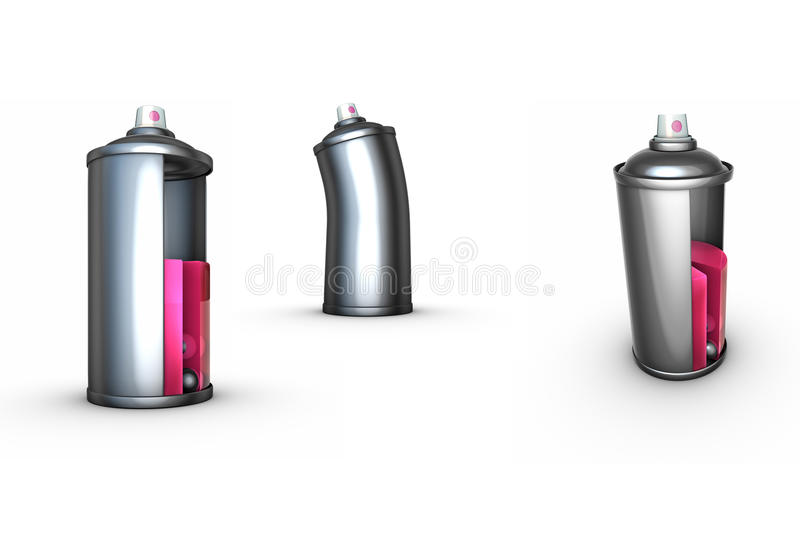 Download 3 funny spray can grafitti stock illustration. Image of dance - 13972430