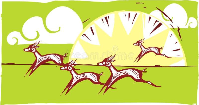 3 gazel target567_1_ ilustracja wektor