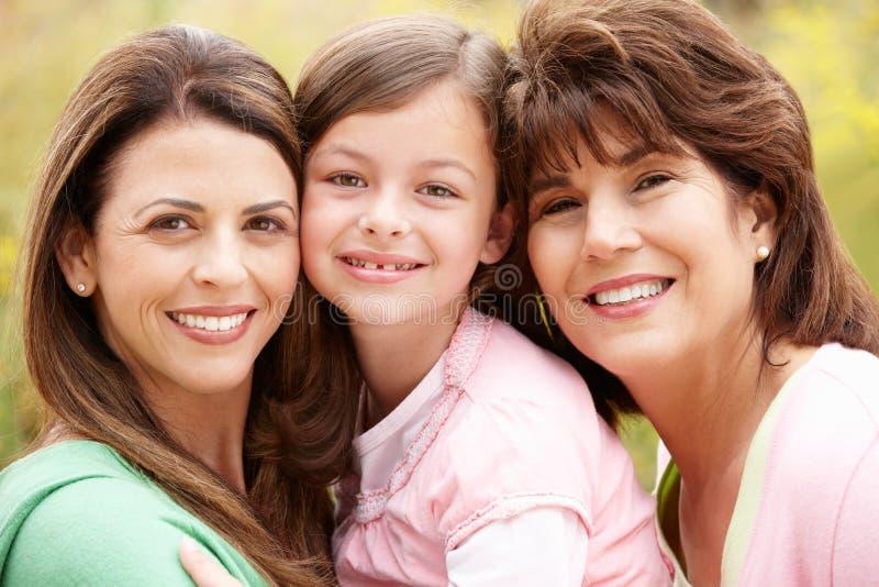 3 generaties Spaanse vrouwen royalty-vrije stock foto's